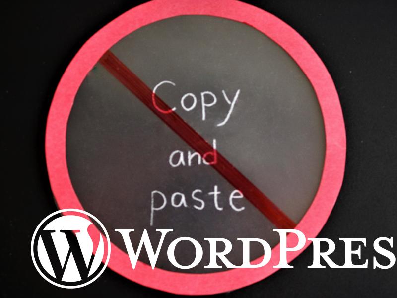 WP‐画像のコピペができなくなった